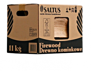Drewno kominkowe w kartonach